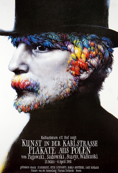Kunst in der Karlstrasse. Plakate aus Polen, Art in the Karlstrasse. Posters from Poland, Walkuski Wieslaw