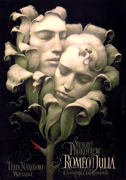 theater poster  romeo and juliet  walkuski wieslaw  1996